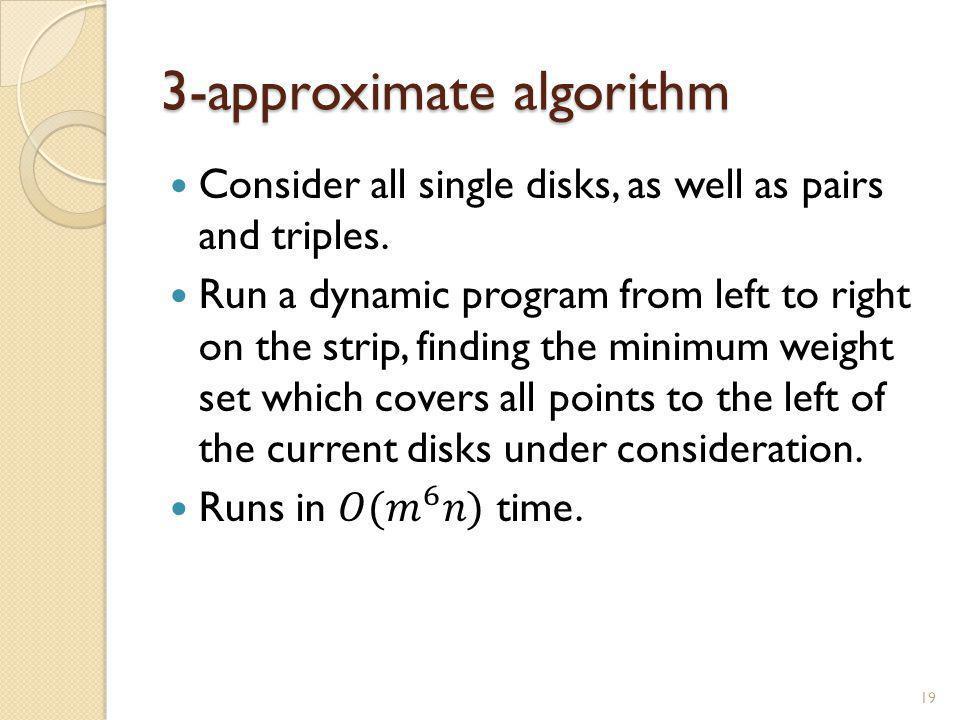 3-approximate algorithm 19