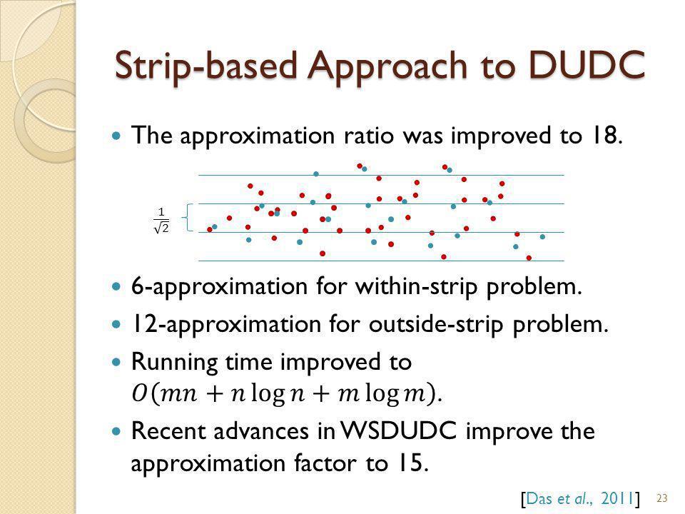 Strip-based Approach to DUDC 23 [Das et al., 2011]