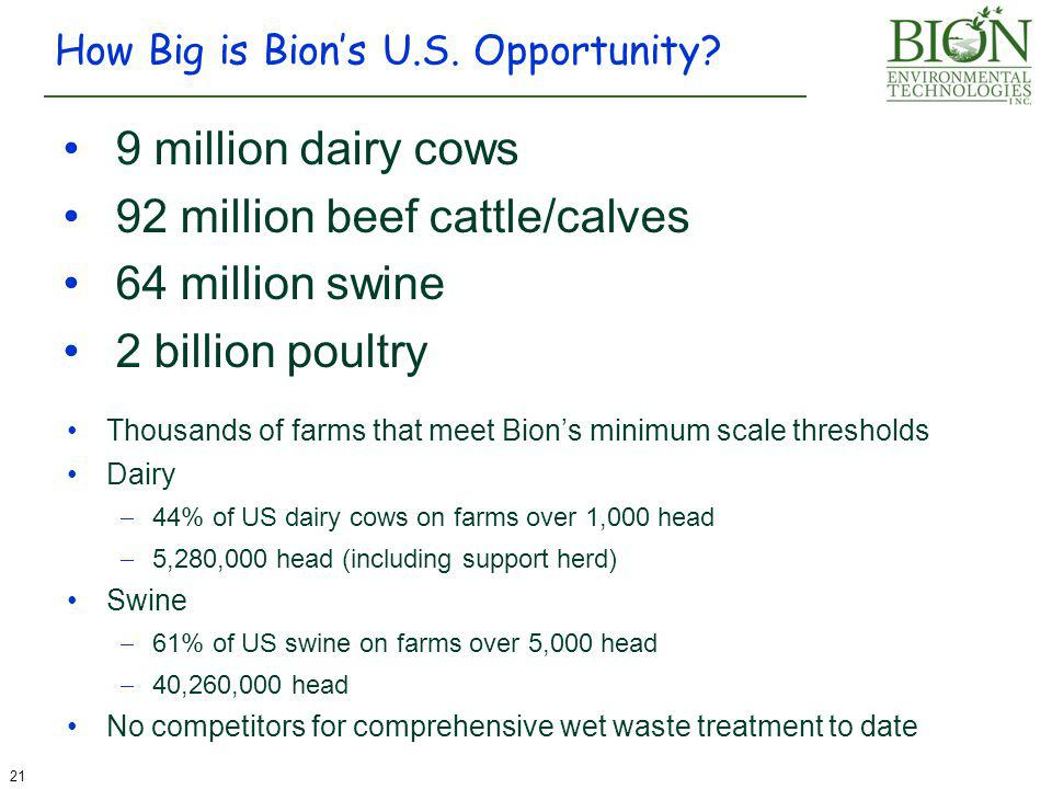 How Big is Bion's U.S. Opportunity.