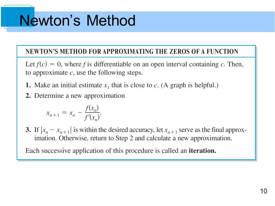 10 Newton's Method