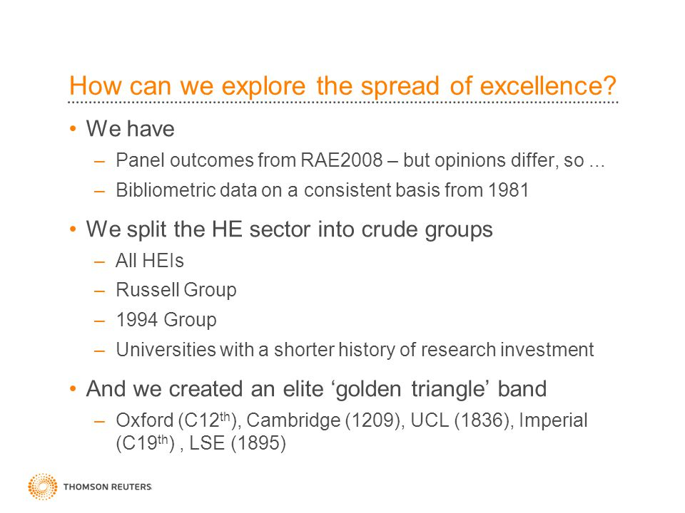 How can we explore the spread of excellence.