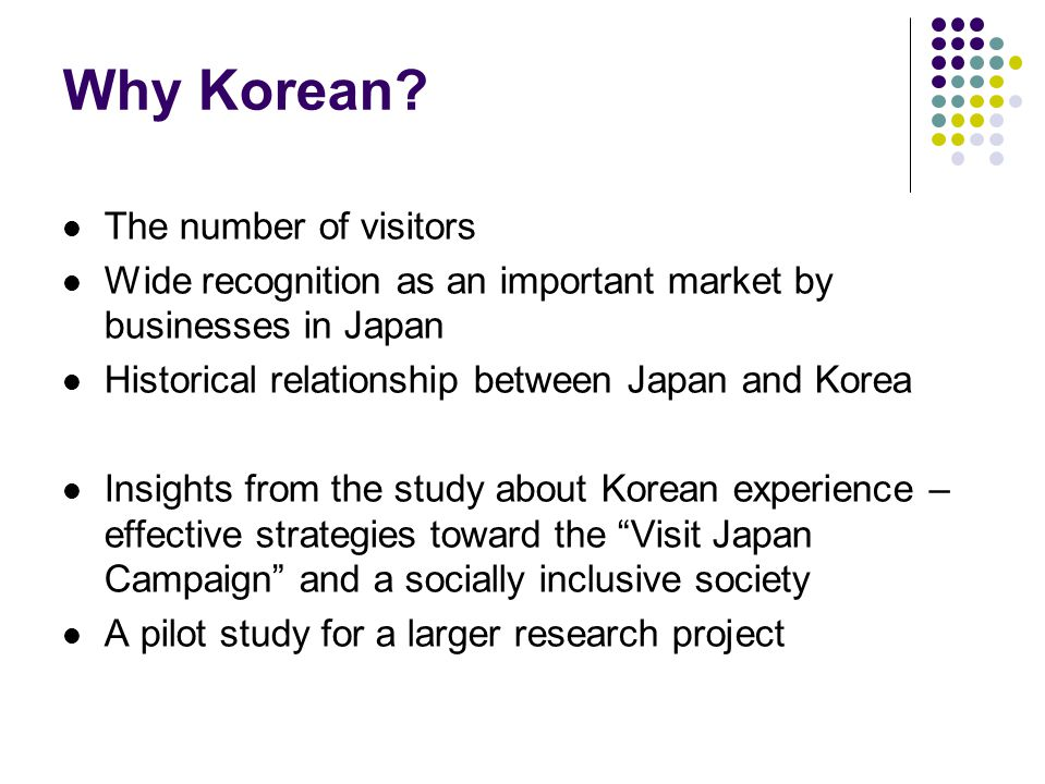 Research questions 1.What was their initial motivation in pursuing a career in tourism in Japan.