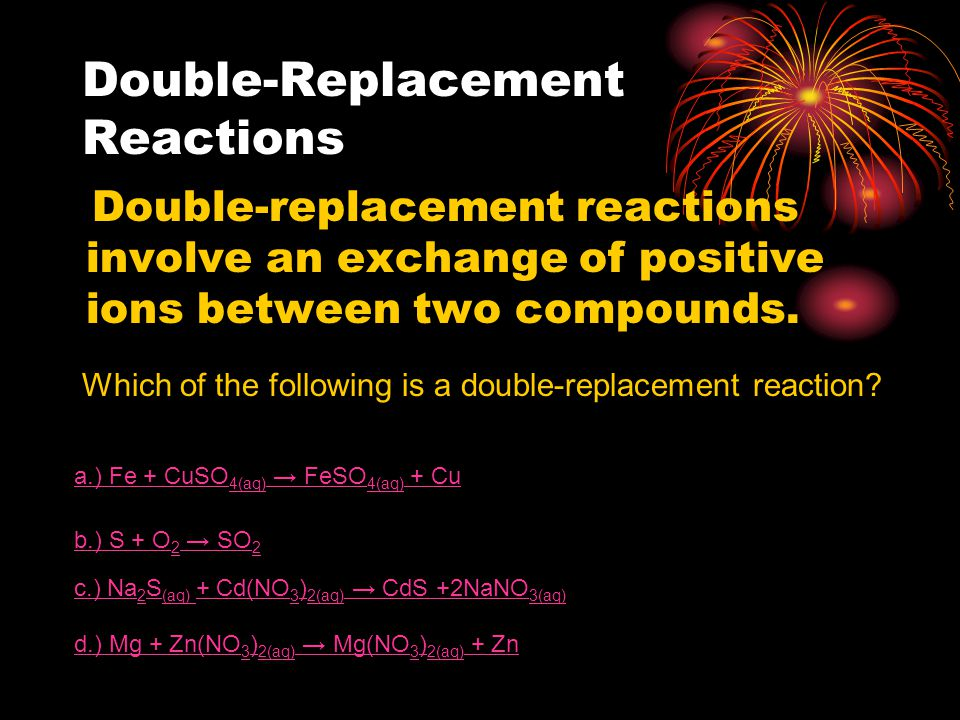 Single-Replacement Reactions In a single-replacement reaction atoms of an element replace the atoms of one other element in a compound.
