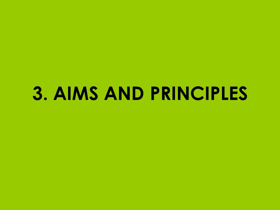 3. AIMS AND PRINCIPLES