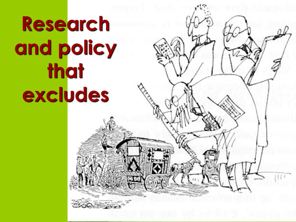 Research and policy that excludes