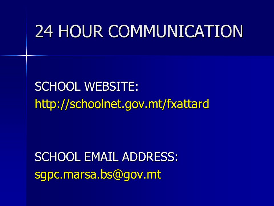 24 HOUR COMMUNICATION SCHOOL WEBSITE: http://schoolnet.gov.mt/fxattard SCHOOL EMAIL ADDRESS: sgpc.marsa.bs@gov.mt