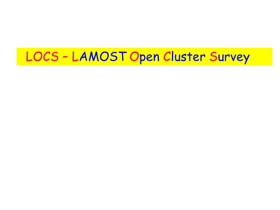 LOCS – LAMOST Open Cluster Survey