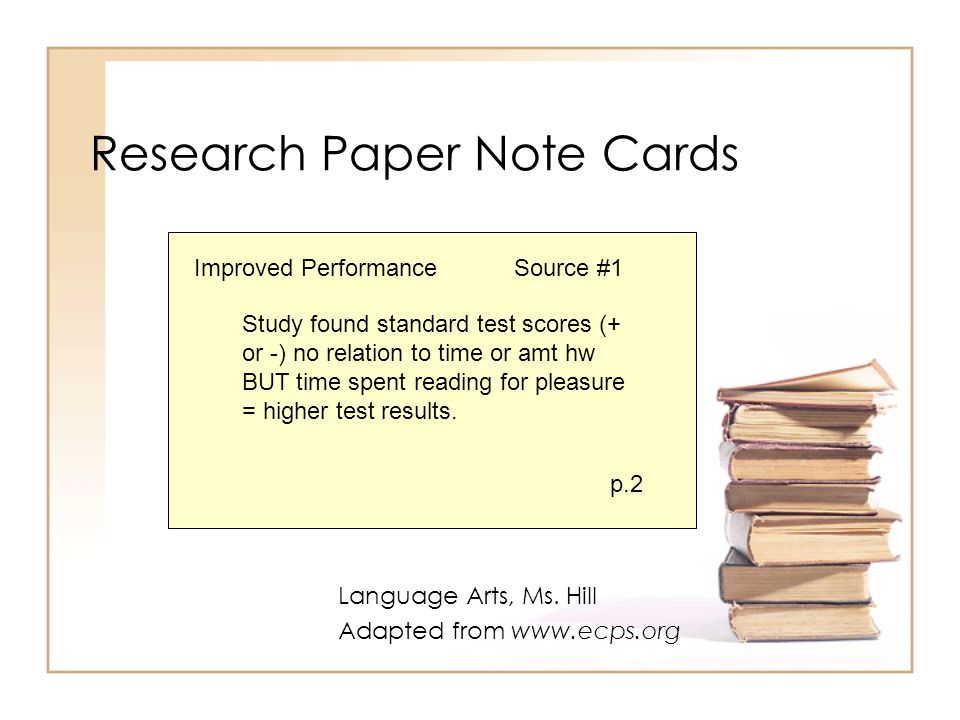 1.Card Topic Think of it as the main idea (the claim or assertion) that your content supports.
