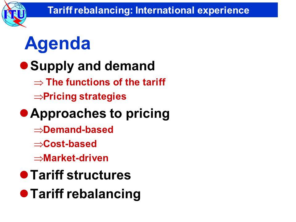 Tariff rebalancing: International experience 050100150200250 China Viet Nam Sri Lanka Cambodia Indonesia Thailand Lao P.D.R.