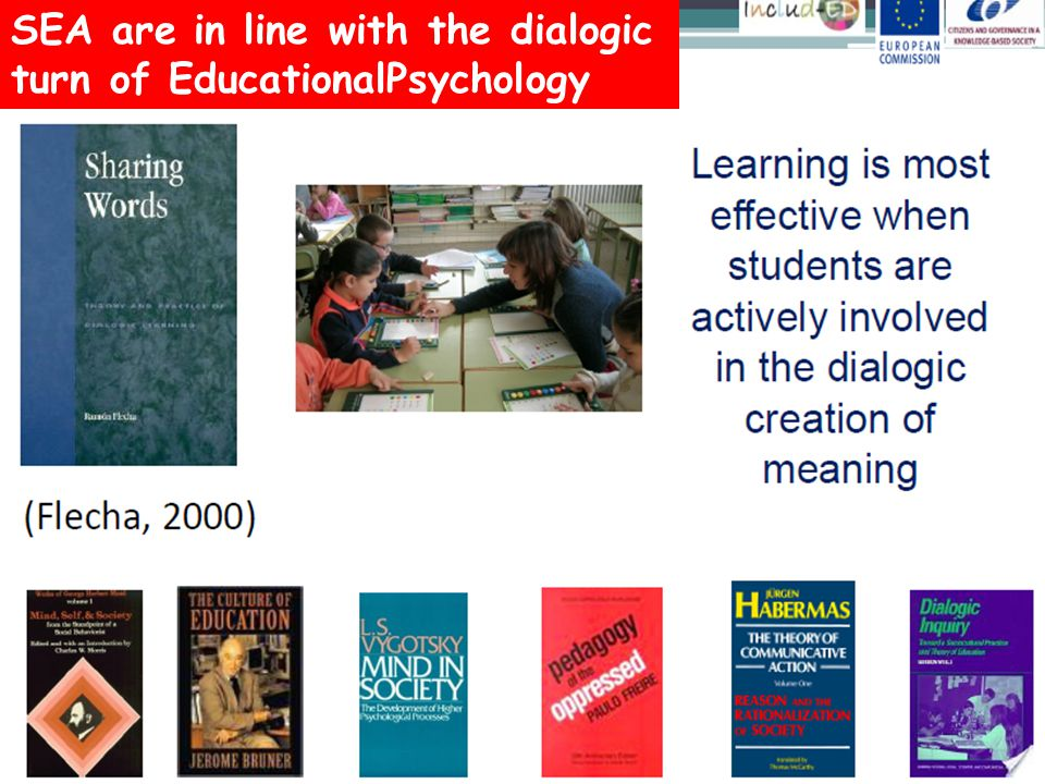 SEA are in line with the dialogic turn of EducationalPsychology