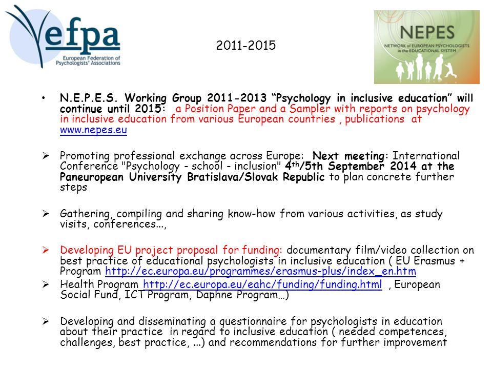 2011-2015 N.E.P.E.S.
