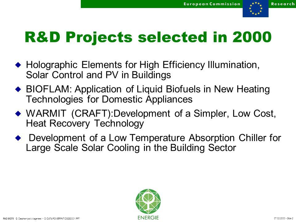 07.02.2000 - Slide 23 PAO MO75 G.Deschamps/ M.