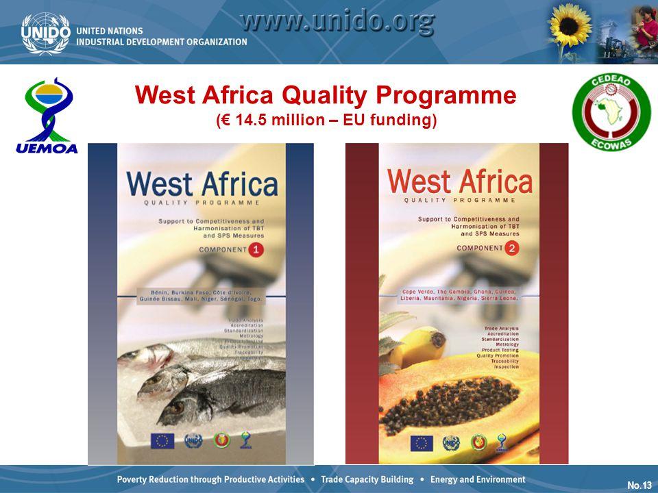 No.13 West Africa Quality Programme (€ 14.5 million – EU funding)