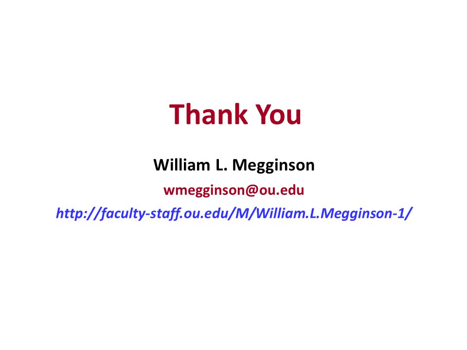 Thank You William L.