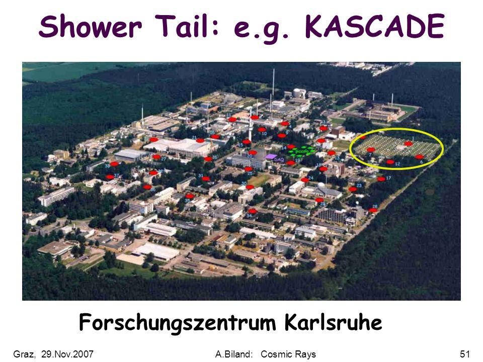 Graz, 29.Nov.2007A.Biland: Cosmic Rays51 Shower Tail: e.g. KASCADE Forschungszentrum Karlsruhe