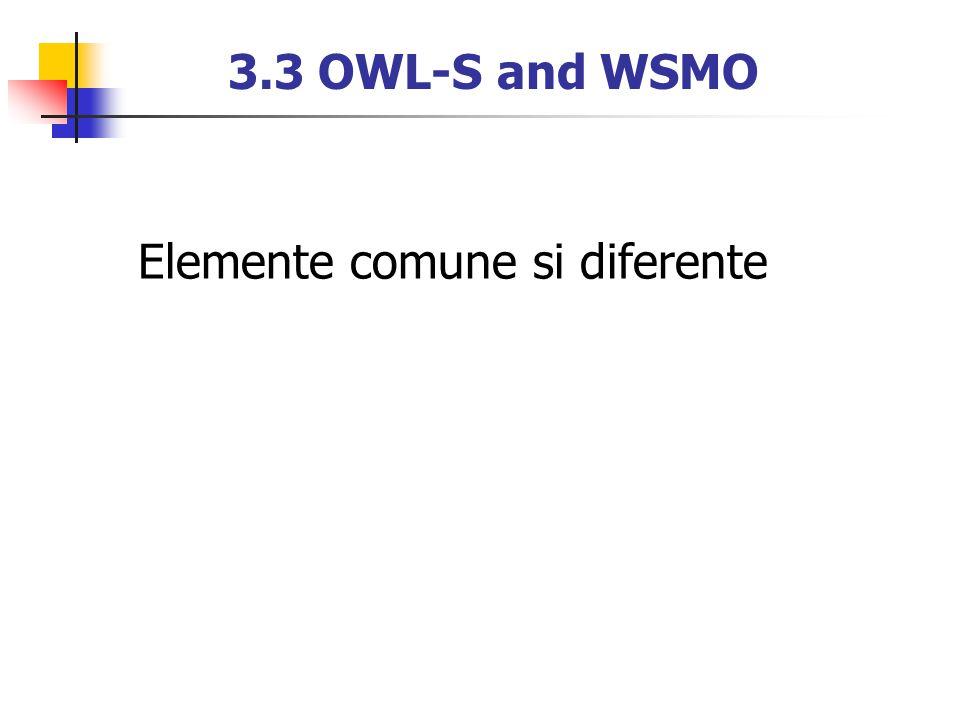 3.3 OWL-S and WSMO Elemente comune si diferente