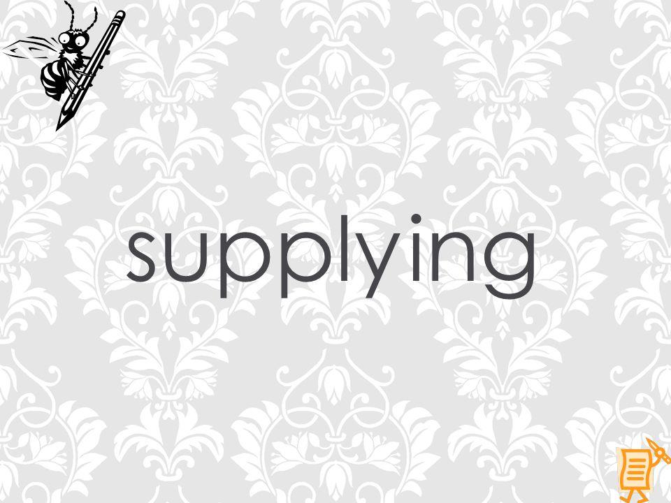 supplying