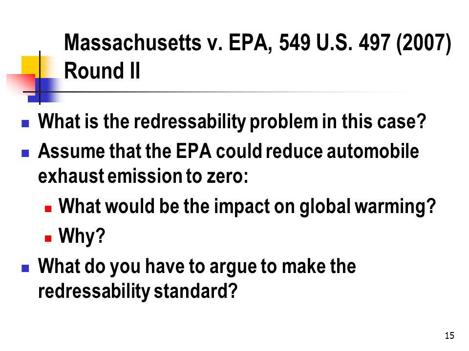 Massachusetts v. EPA, 549 U.S.