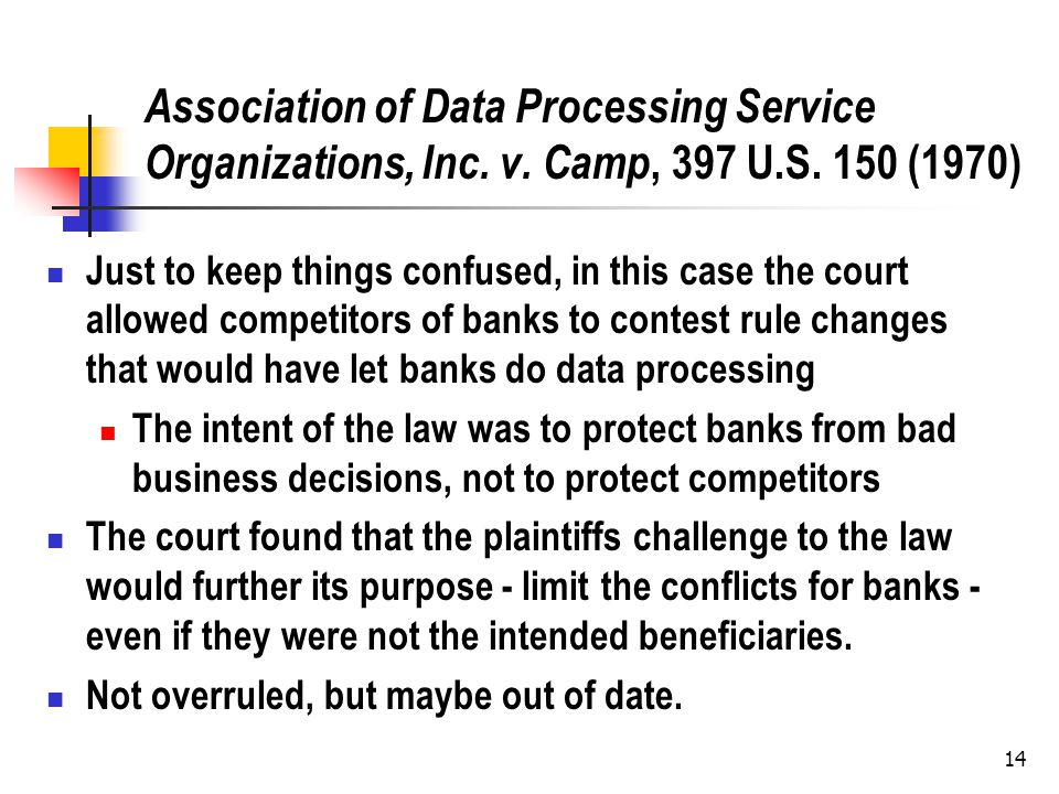 14 Association of Data Processing Service Organizations, Inc.