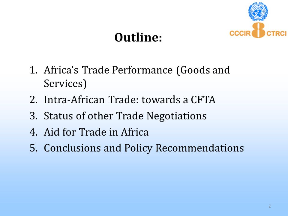 (4). Aid for Trade in Africa Source: OECD, Online Source (2013) 23