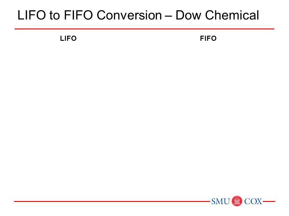 LIFO to FIFO Conversion – Dow Chemical LIFOFIFO