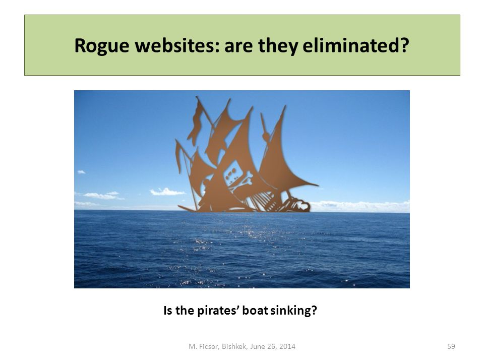 Rogue websites: are they eliminated. M.