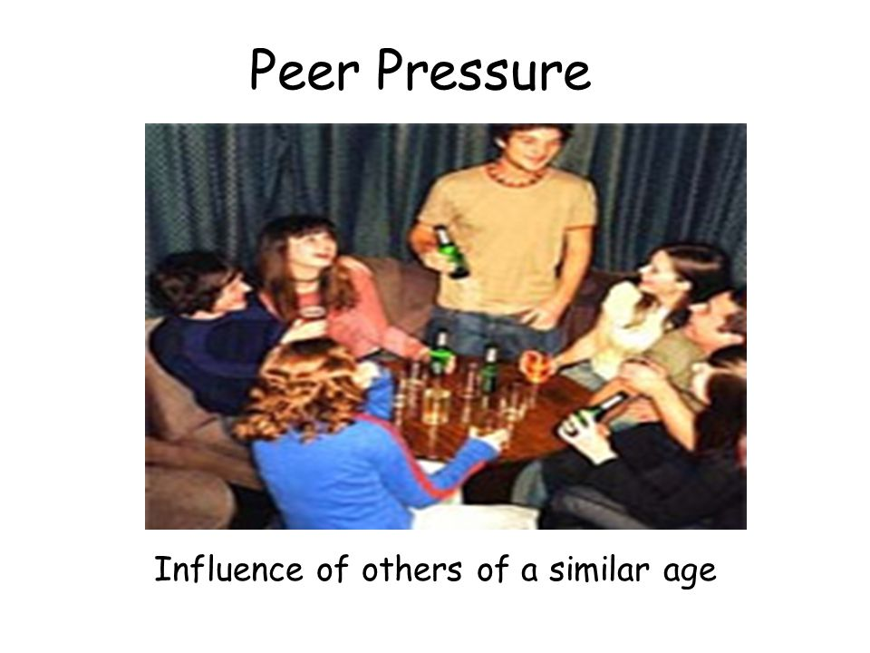 Peer Pressure Influence of others of a similar age