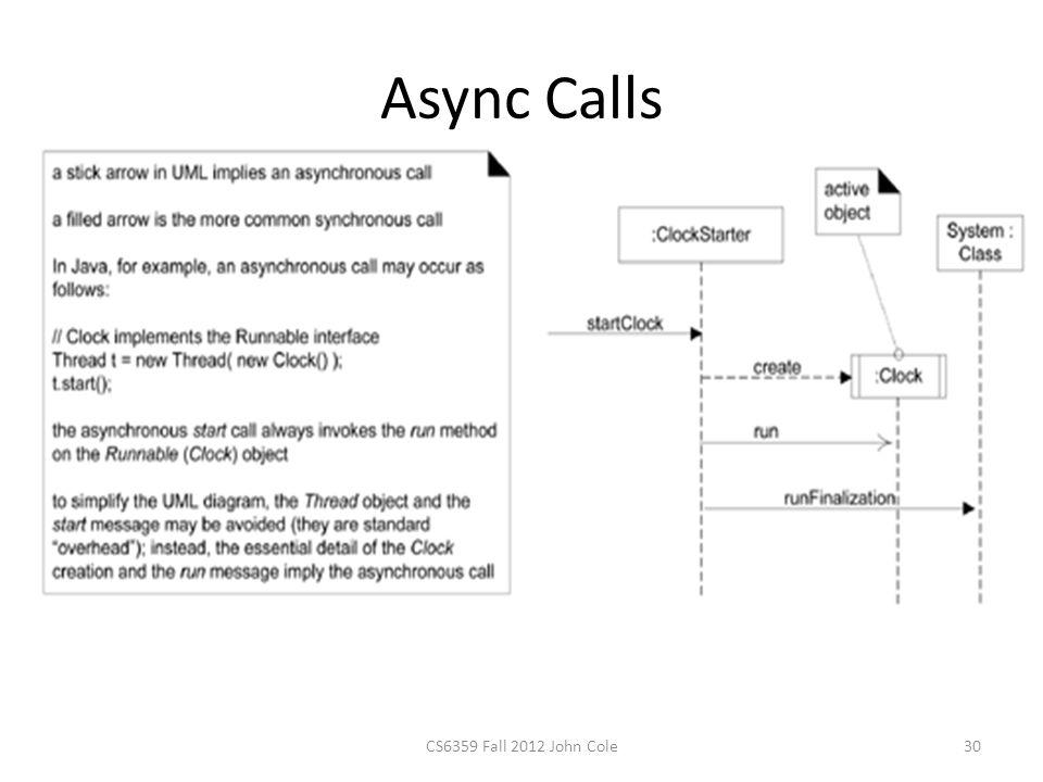 Async Calls CS6359 Fall 2012 John Cole30
