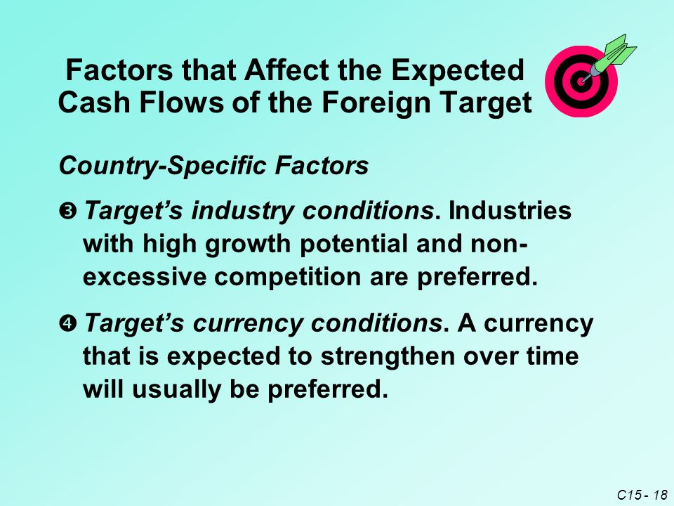 C15 - 18  Target's currency conditions.