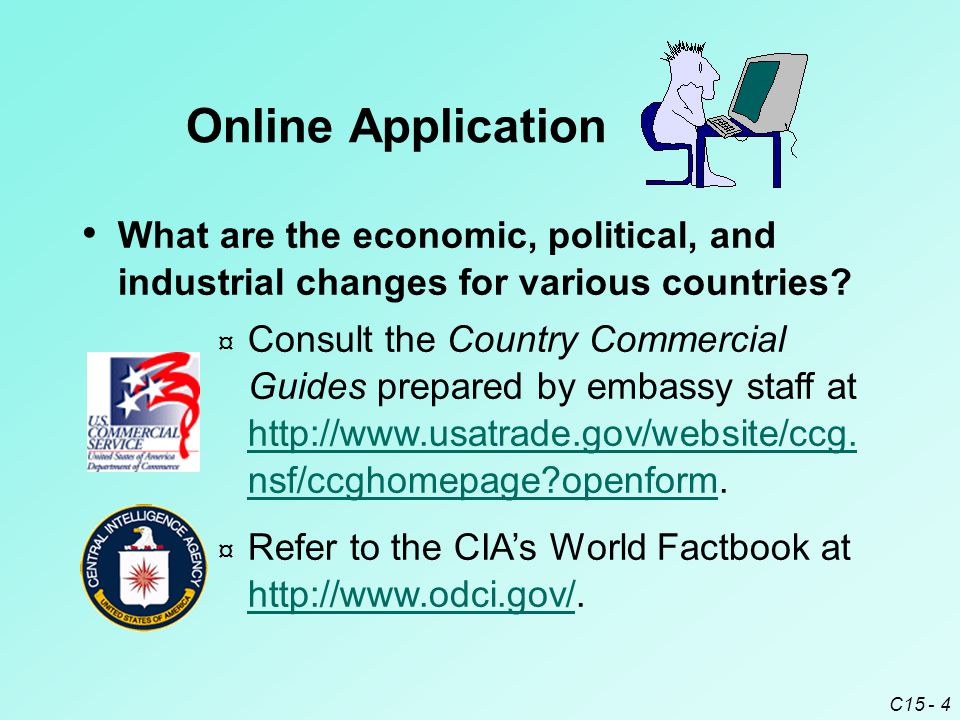 C15 - 4 What are the economic, political, and industrial changes for various countries.