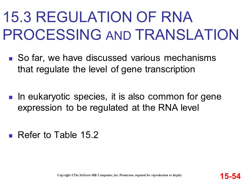 So far, we have discussed various mechanisms that regulate the level of gene transcription In eukaryotic species, it is also common for gene expressio