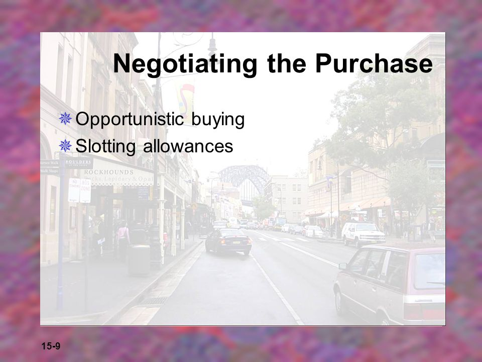 15-10 Concluding Purchases  The retailer takes title immediately on purchase  The retailer assumes ownership after titles are loaded onto the mode of transportation  The retailer takes title when a shipment is received  The retailer does not take title until the end of a billing cycle, when the supplier is paid  The retailer accepts merchandise on consignment and does not own the items.