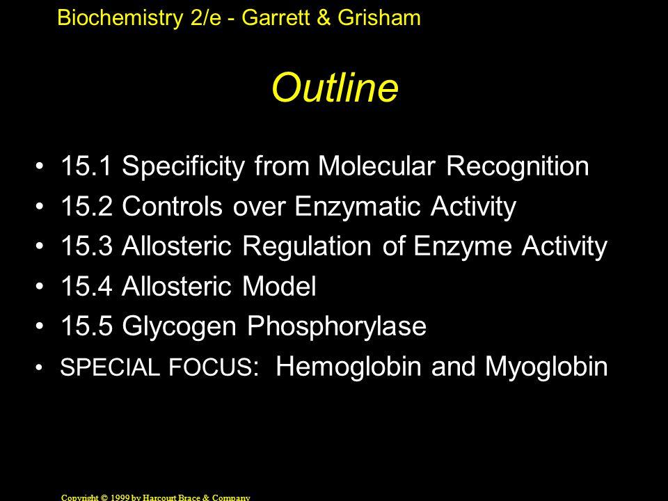 Biochemistry 2/e - Garrett & Grisham Copyright © 1999 by Harcourt Brace & Company The Conformation Change The secret of Mb and Hb.