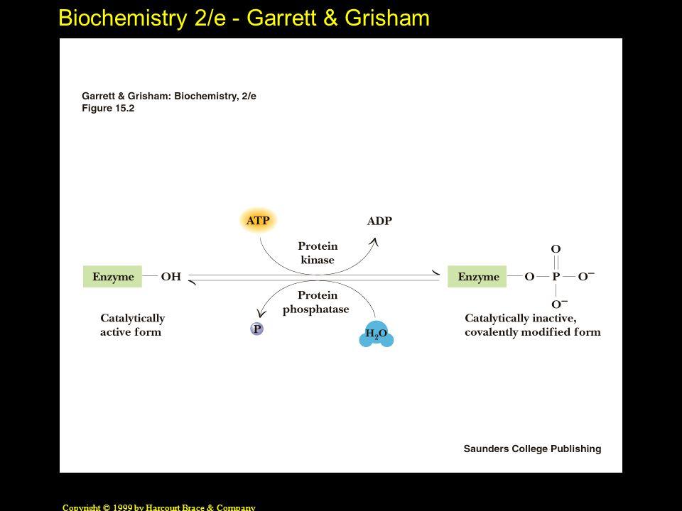 Biochemistry 2/e - Garrett & Grisham Copyright © 1999 by Harcourt Brace & Company 2,3-Bisphosphoglycerate An Allosteric Effector of Hemoglobin In the absence of 2,3-BPG, oxygen binding to Hb follows a rectangular hyperbola.