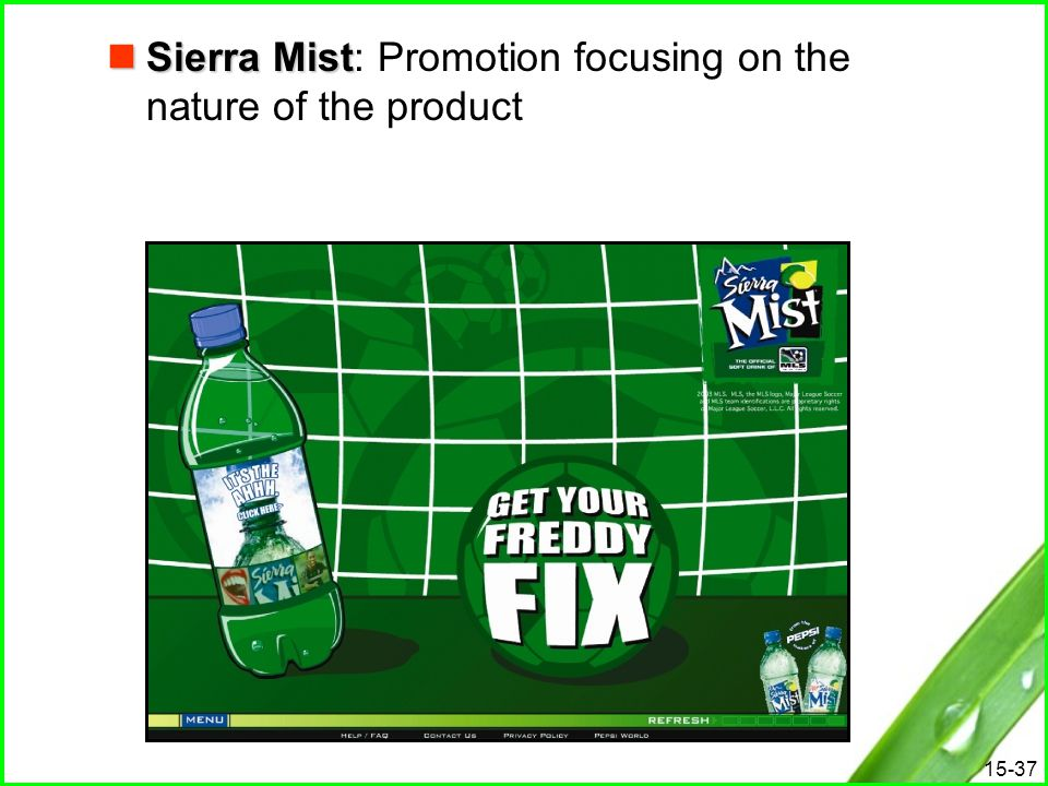 15-37 Sierra Mist Sierra Mist: Promotion focusing on the nature of the product
