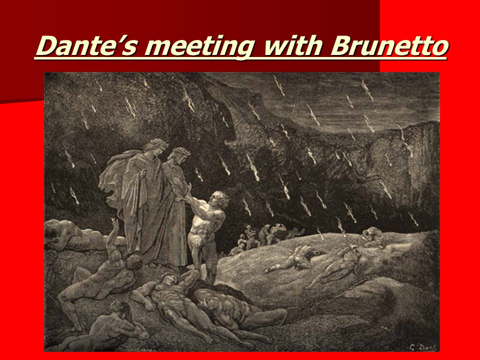 Dante's meeting with Brunetto
