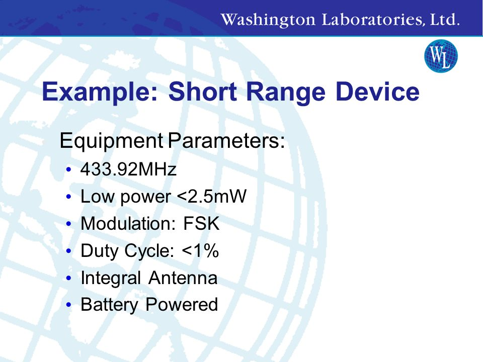ETSI/EN Standards Available from www.etsi.org (free!) EMC & Radio Matters ETS 300 328: Radio Equipment and Systems (RES); Wideband transmission system