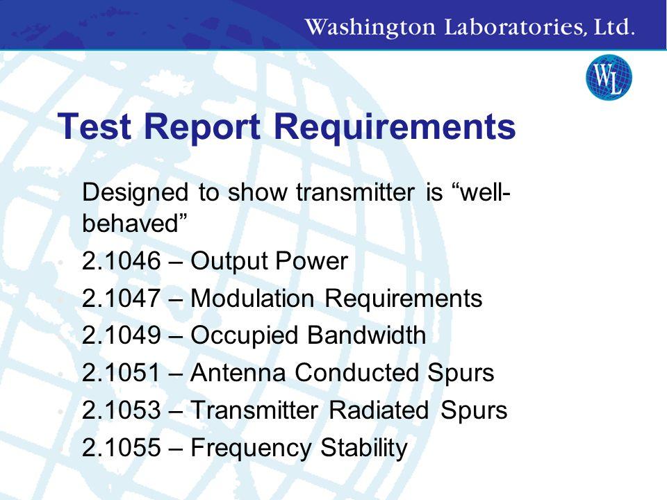 FCC Part 2 Requirements