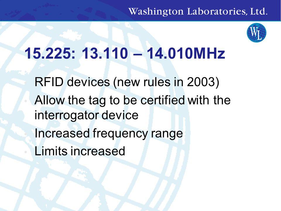 Measurement Standards ANSI C63.4-2001- per Part 15.31 (a) (3) CISPR 22 (Must use ANSI setup) FCC Part 15 Other Resources: Public Notices, FCC Dockets,
