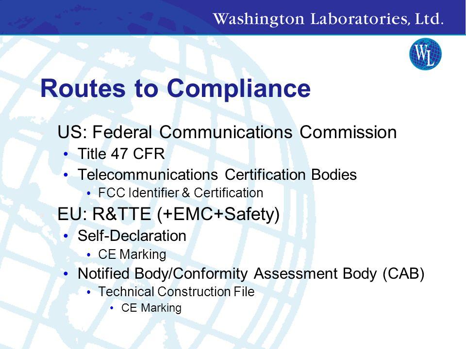 US Standards CFR 47 FCC Part 15 Subpart B Unintentional Radiators CFR 47 FCC Part 15 Subpart C Intentional Radiators CFR 47 FCC Part 15.247 Spread Spectrum