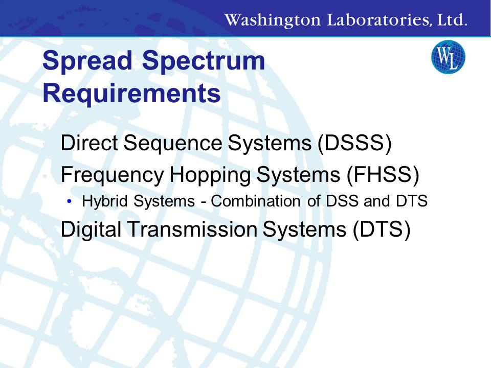 Spread Spectrum Definitions BER = Bit Error Rate dBc = decibels below carrier dBd = decibels above dipole dBi= decibels above an Isotropic dBm = decib