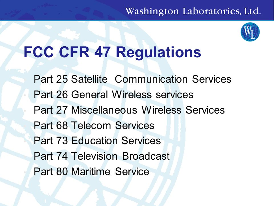 Test Report Requirements Designed to show transmitter is well- behaved 2.1046 – Output Power 2.1047 – Modulation Requirements 2.1049 – Occupied Bandwidth 2.1051 – Antenna Conducted Spurs 2.1053 – Transmitter Radiated Spurs 2.1055 – Frequency Stability