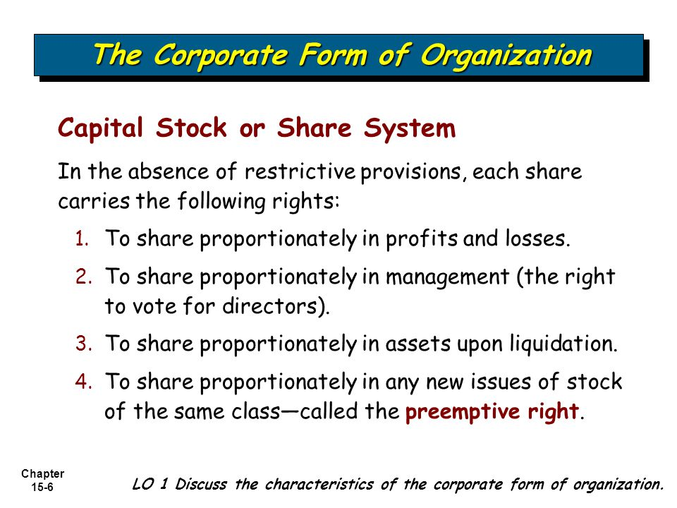 Chapter 15-47 Stock Split and Stock Dividend Differentiated If the stock dividend is large, it has the same effect on market price as a stock split.