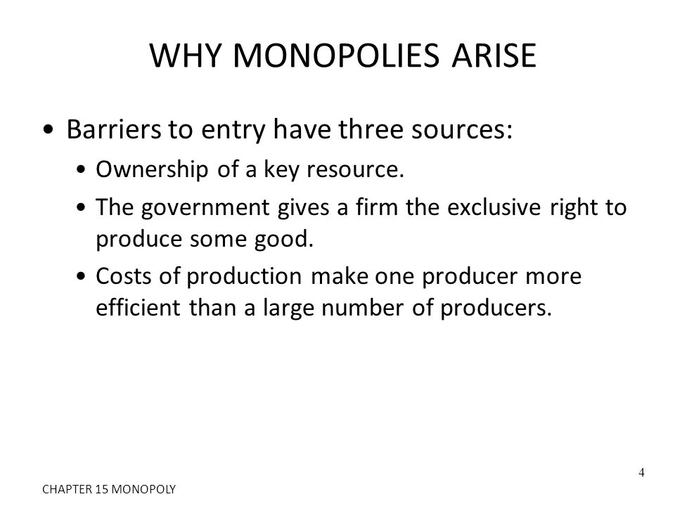 CONCLUSION: THE PREVALENCE OF MONOPOLY We have seen that monopoly is inefficient.