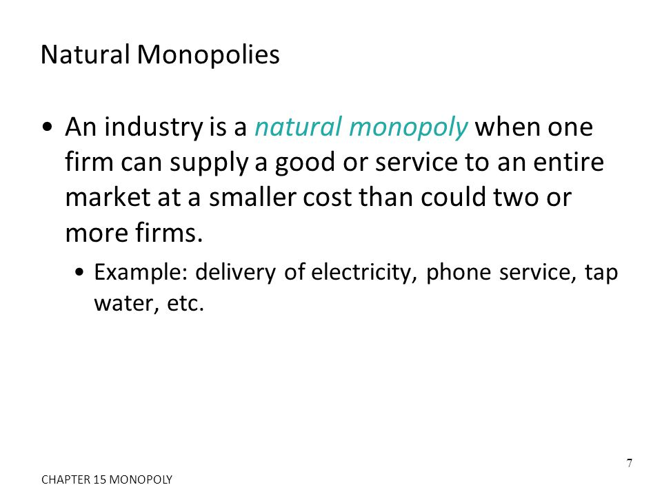 Comparing Monopoly and Competition For a competitive firm, price equals marginal cost.