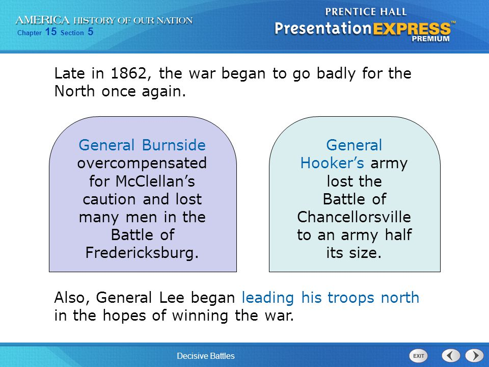 Chapter 15 Section 5 Decisive Battles Section Review Know It, Show It QuizQuickTake Quiz