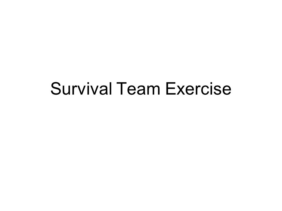 Survival Team Exercise