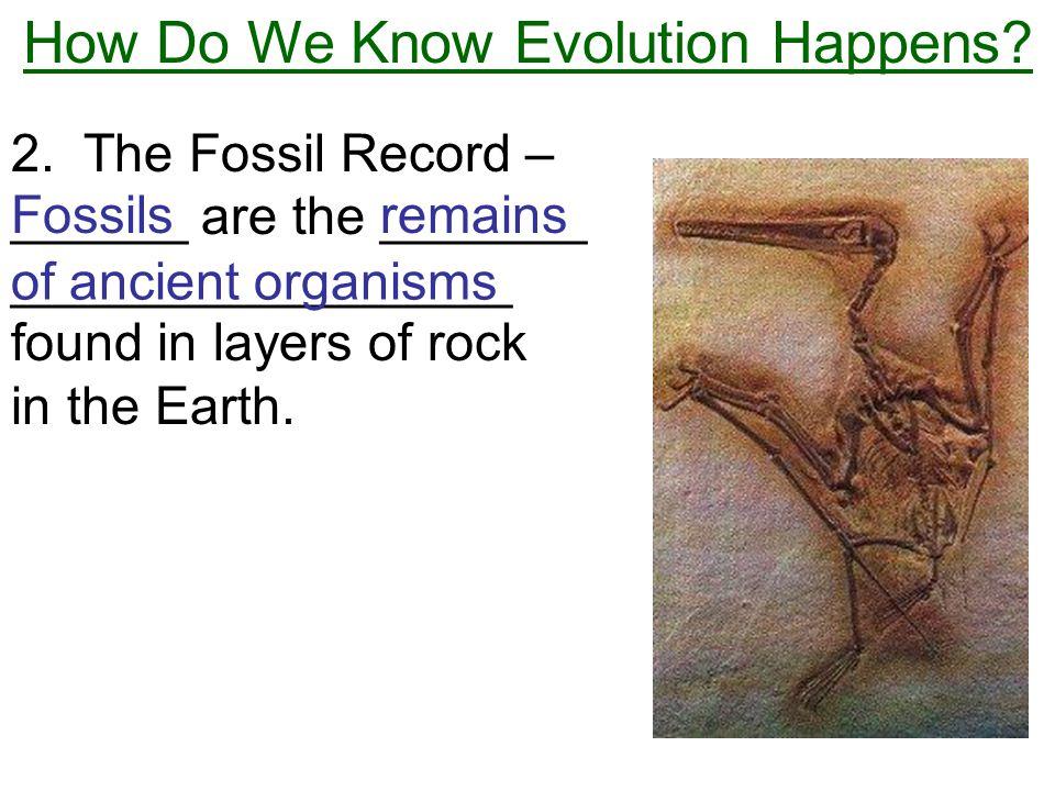 How Do We Know Evolution Happens.2.