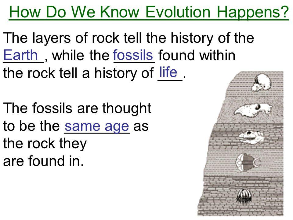How Do We Know Evolution Happens.