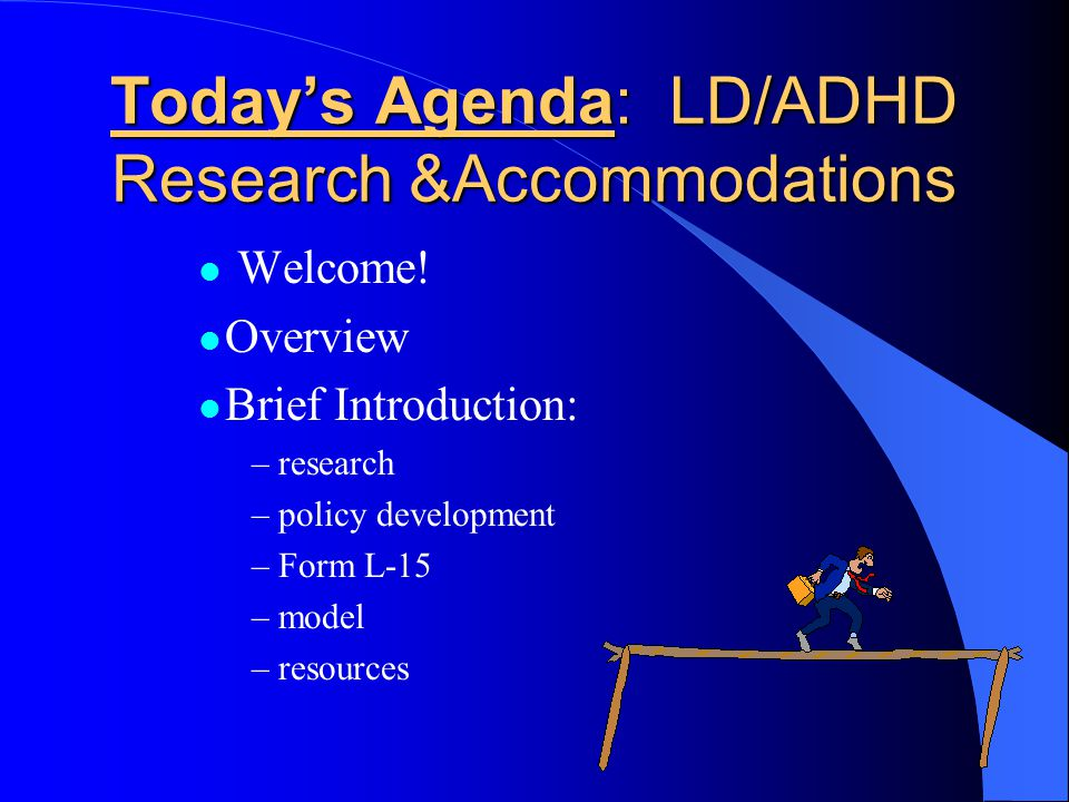ACCOMMODATING ACCOMMODATIONS A bridge to the future for GED candidates with learning disabilities and/or ADHD.